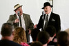 Bob Raines--Montgomery Media<br /> Bill Riley and Joe Ziegler present an Abbott and Costello Tribute in the USO tent during the World War II Weekend at Graeme Park Saturday, May 2, 2015.