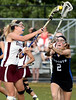 Bob Raines--Montgomery Media<br /> Abington's Jeannie Van Buren gets off a shot past  Central Bucks South's Courtney Taylo May 12, 2015..