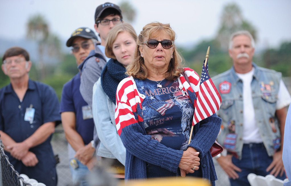 . Mary Lou Lopez of San Pedro attended the observance event to honor 9/11 first responders aboard the USS Iowa in San Pedro. (Wed. Sept 11, 2013 Photo by Brad Graverson/The Daily Breeze