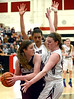Bob Raines--Montgomery Media<br /> Liz Oleary, Leah Simmons and Abington girls slugged their way past Mechanicsburg, 35-31, to reach PIAA AAAA quarters Tuesday night March 10, 2015.