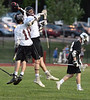 Abington's John Wink and Cameron Leech bump after Wink scores with an assist from Leech during their District 1 first-round game against Strath Haven on  Tuesday, May 12, 2015. (Bob Raines/Montgomery Media)