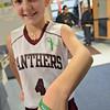 Jill Dreshler, daughter of Shirley EMT/firefighter Al Dreshler, shows off a bracelet being sold to help kidney donor, Nashoba Valley Medical Center nurse Kerry Krasinskas. SENTINEL & ENTERPRISE / Ashley Green