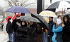 People line Butler Ave. to see the Ambler Holiday Parade despite the rain Saturday, Dec. 6, 2014.<br /> Bob Raines-Montgomery Media