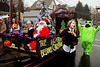 "Girl Scout Troop 7173 created ""The Night Before Christmas"" float for the Ambler Holiday Parade Saturday, Dec. 6, 2014.<br /> Bob Raines-Montgomery Media"