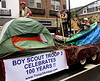 Boy Scout Troop 3 float lets everyone now about their 100th anniversary this year in the Ambler Holiday Parade Saturday, Dec. 6, 2014.<br /> Bob Raines-Montgomery Media