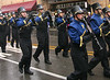 The Wissahickon High School Marching Band pass the Ambler Theater during the Ambler Holiday Parade Saturday, Dec. 6, 2014.<br /> Bob Raines-Montgomery Media