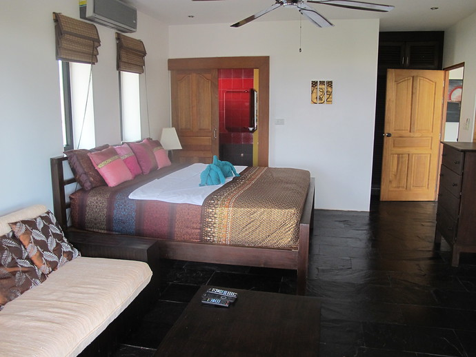 Master double bedroom with ens uite bathroom and private balcony