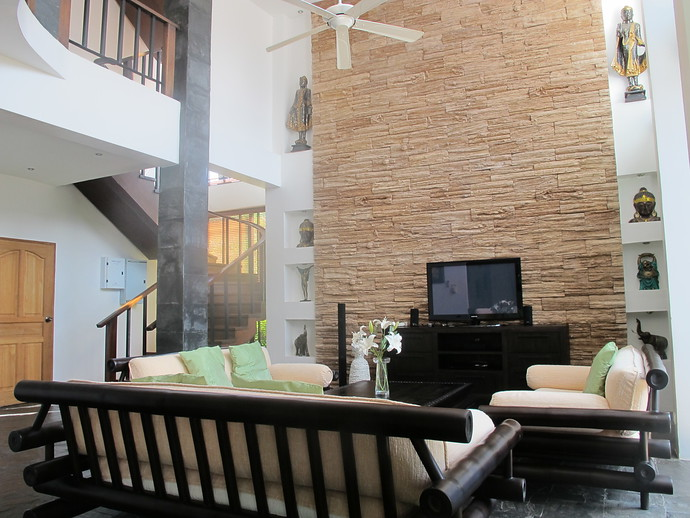 Living Room in the 4 bedroom luxury Andaman Sea View Villa