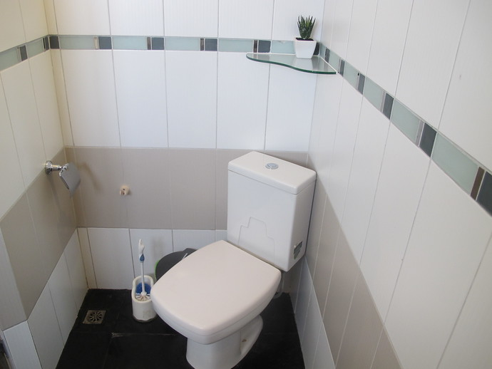 Ensuite bathroom from the second double bedroom middle level