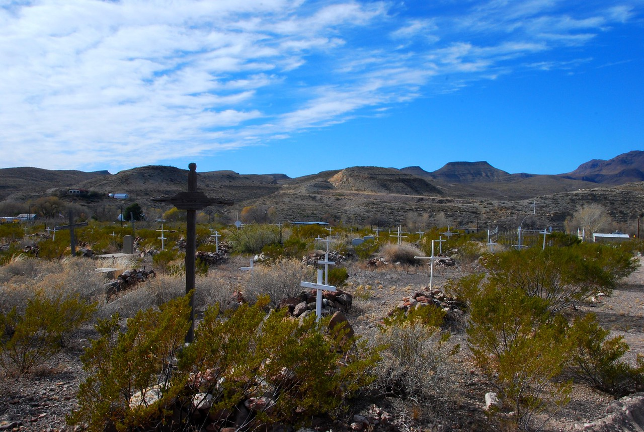 Cemetery in Shafter Ghost Town