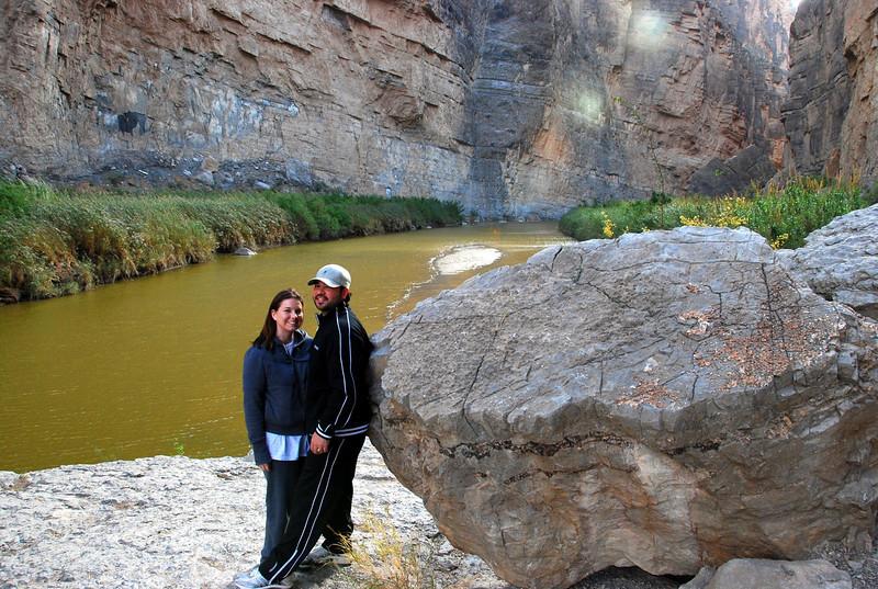 Jennifer and Lawrence at end of Santa Elena Canyon trail