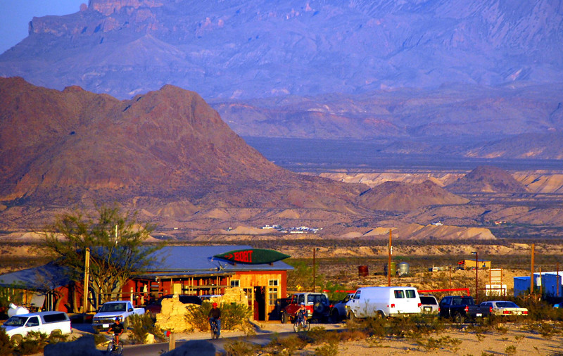 The Boathouse local watering hole in Terlingua Ghosttown