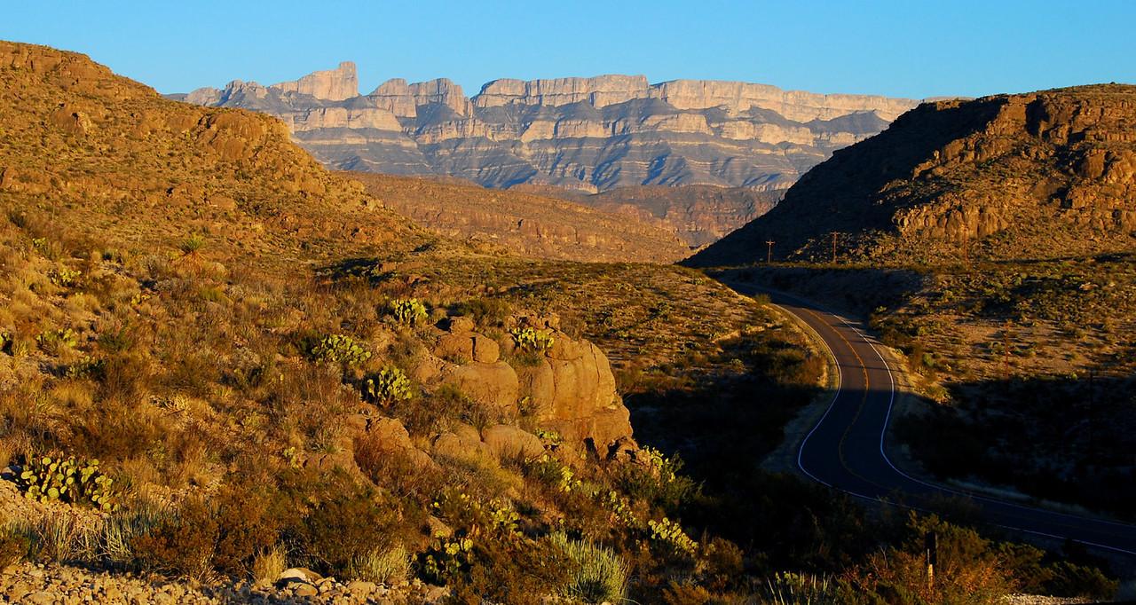 The road to Rio Grande Village