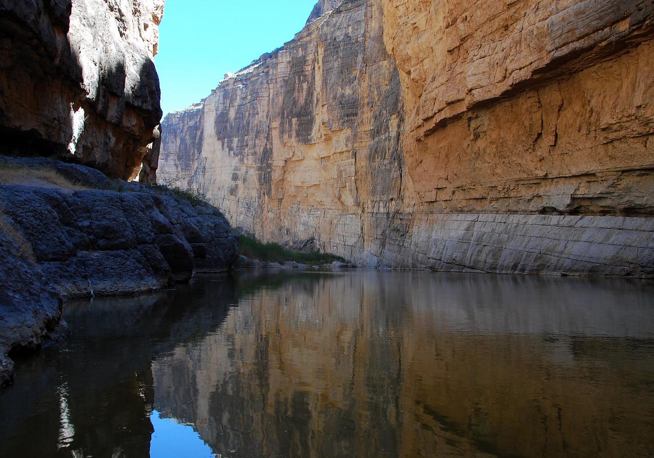 Canoe eye view of Santa Elena Canyon