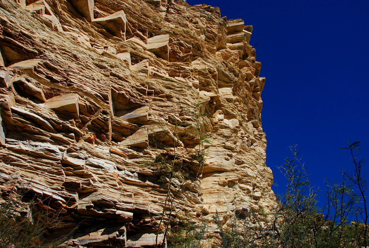 Canyon wall on Hot Springs Trail
