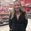 Ayer resident Megan Cushing shopping at Target at Orchard Hill Park. SENTINEL & ENTERPRISE / Anna Burgess