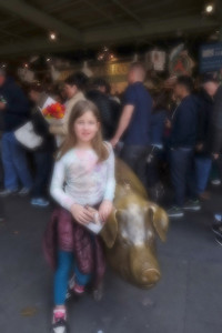 The pig at Pike Place Market!