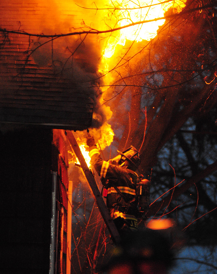 [Jack Haley/Messenger Post Media]<br /> Cheshire Fire Department was  dispatched for a structure fire on Route 21 right in the hamlet early Monday evening. Upon arrival a second alarm was dispatached to help them battle the blaze.