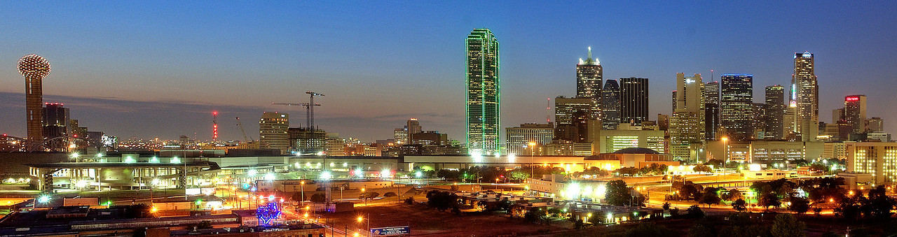Dallas skyline from the Southside