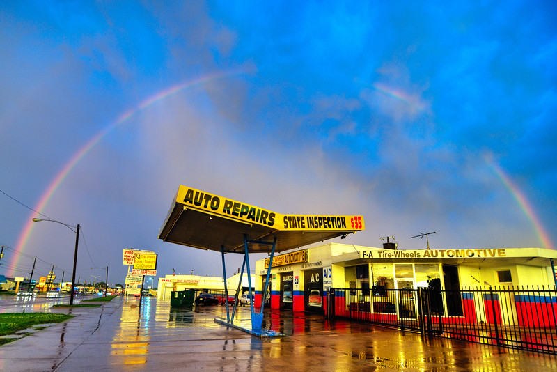 Rainbow in Garland