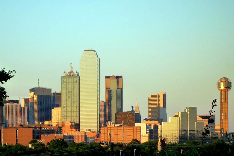 Dallas Skyline from the Belmont Bar terrace