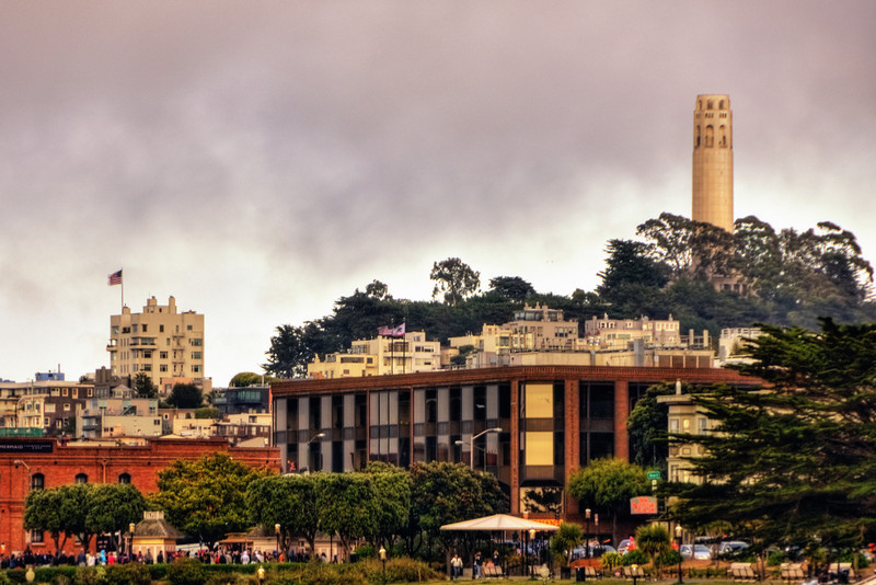 Coit Tower from Fisherman's Wharf
