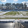 Volunteers cleaned up at Doyle Field on Friday morning ahead of the Thanksgiving makeup game to be played between Fitchburg and Leominster on Saturday morning. Cleaup began around 6 a.m. and was ongoing through noon. SENTINEL & ENTERPRISE / Ashley Green
