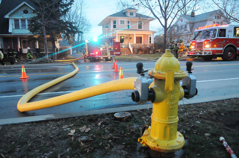Jack Haley/Messenger Post Media<br /> Firefighters responded for a structure fire call on Main Street in East Bloomfield on Monday evening.