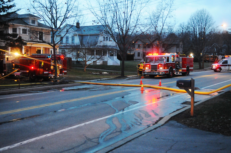 Firefighters responded to a reported structure fire on Main Street in East Bloomfield.