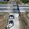 Removal of 49th Street bridge in Elyria on Oct. 12.  PHOTO COURTESY MATT MISHAK/DRONEWERX