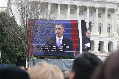 57th Presidential Inauguration 2013 (Red Area) President Obama Oath of Office