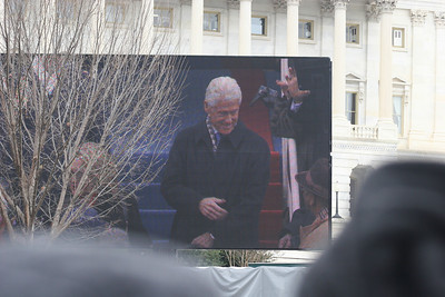 57th Presidential Inauguration 2013 (Red Area) President Bill Clinton