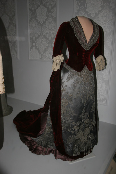 First Lady Caroline Harrison's Evening Gown