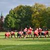 The Fitchburg High Football team practiced at Crocker Field on Thursday evening. Playoffs kick off on Saturday at St. John's. SENTINEL & ENTERPRISE / Ashley Green