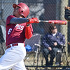 Fitchburg's Arcadio Santiago takes a cut during the season opener against Leominster on Wesnesday afternoon at Doyle Field. The Devils came out on top 7-1. SENTINEL & ENTERPRISE / Ashley Green