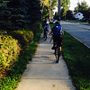 Riding bikes to school (Quin and Vivek)