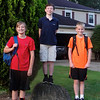 Quin, Shane and Jack on the first day of 6th grade