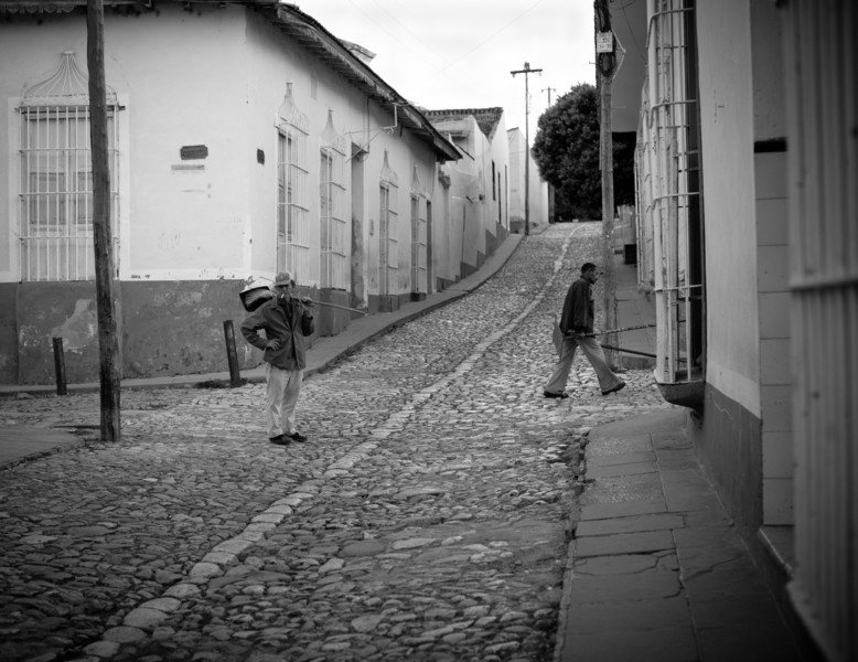 Trinidad, Cuba  early morning street sweepers