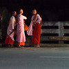 Myanmar,  Nuns awaiting bus at 4:30 in the morning
