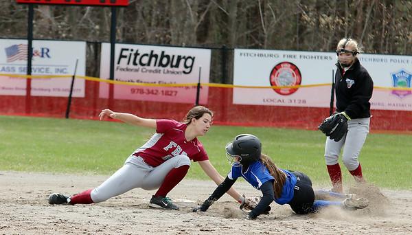 Fitchburg High School softball game April 24, 2015