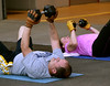 Bob Raines-- Montgomery Media<br /> Fort Washington firefighters work out with weights during bootcamp.