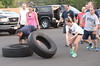 "Bob Raines--Montgomery Media<br /> As Fort Washington firefighters race to flip truck tires end-over-end during one of their ""boot camp"" physical training sessions, one occasionally goes astray."