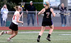 Bob Raines-Montgomery Media<br /> Kaitlyn Wallace comes up against Delaney Smith as she turns for the goal.