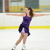 """The Wallace Figure Skating Club presents their new Theatre on Ice exhibition on Saturday morning at the Wallace Civic Center. A portion of the proceeds will benefit Kylee's Kare Kits for Kids. Brooke Robbins performs to """"Rose Colored Glasses."""" SENTINEL & ENTERPRISE / Ashley Green"""
