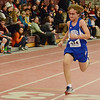 Lunenburg's Robert Kelley runs the 55m during the track meet at Fitchburg High on Thursday evening. SENTINEL & ENTERPRISE / Ashley Green