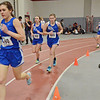Leominster girls run the one-mile during the track meet at Fitchburg High on Thursday evening. SENTINEL & ENTERPRISE / Ashley Green