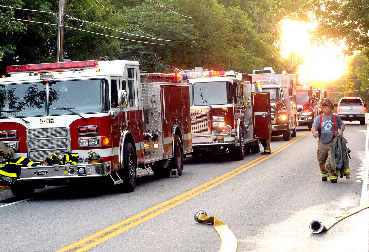 Jack Haley/Messenger Post Media<br /> Are fire companies from Ontario, Monroe and Livingston Counties responded to help the Ionia Fire Department.