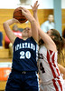 Jenkintown's Morrin McSherry snuffs a shot by Springfield's Meg Smith Tuesday, Dec. 30, 2014.<br /> Bob Raines-Digital First Media