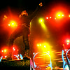 Journey lead singer Arnel Pineda stands on a speaker as he gets close the fans at the Minnesota State Fair on September 1, 2014. (Pioneer Press: Sherri LaRose-Chiglo)