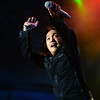 Journey lead singer Arnel Pineda performs with the band at the Minnesota State Fair on September 1, 2014. (Pioneer Press: Sherri LaRose-Chiglo)